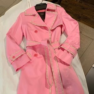 **Coach Hot Pink Lined Trench Coat size 2**